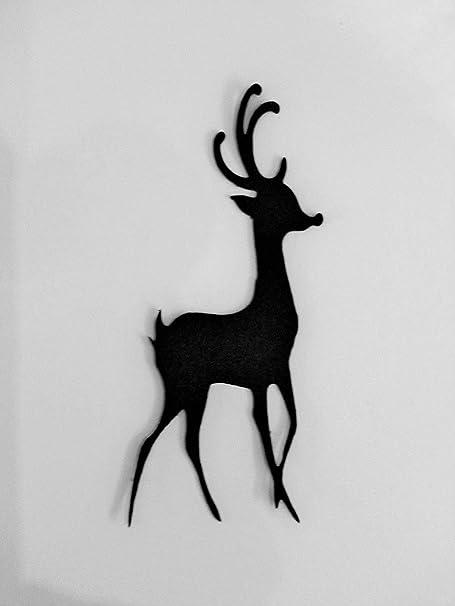 Christmas Reindeer Silhouette.5 Christmas Reindeer Silhouette Die Cuts Shapes Black Card