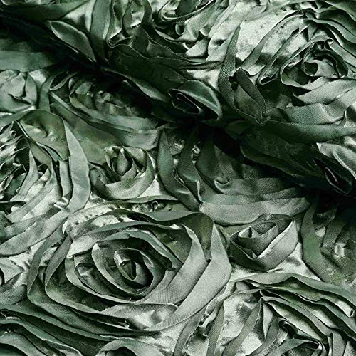 Mikash 54 Wide x 12 feet Raised Roses Fabric Bolt Wedding Party Decorations Wholesale | Model WDDNGDCRTN - 9371 |