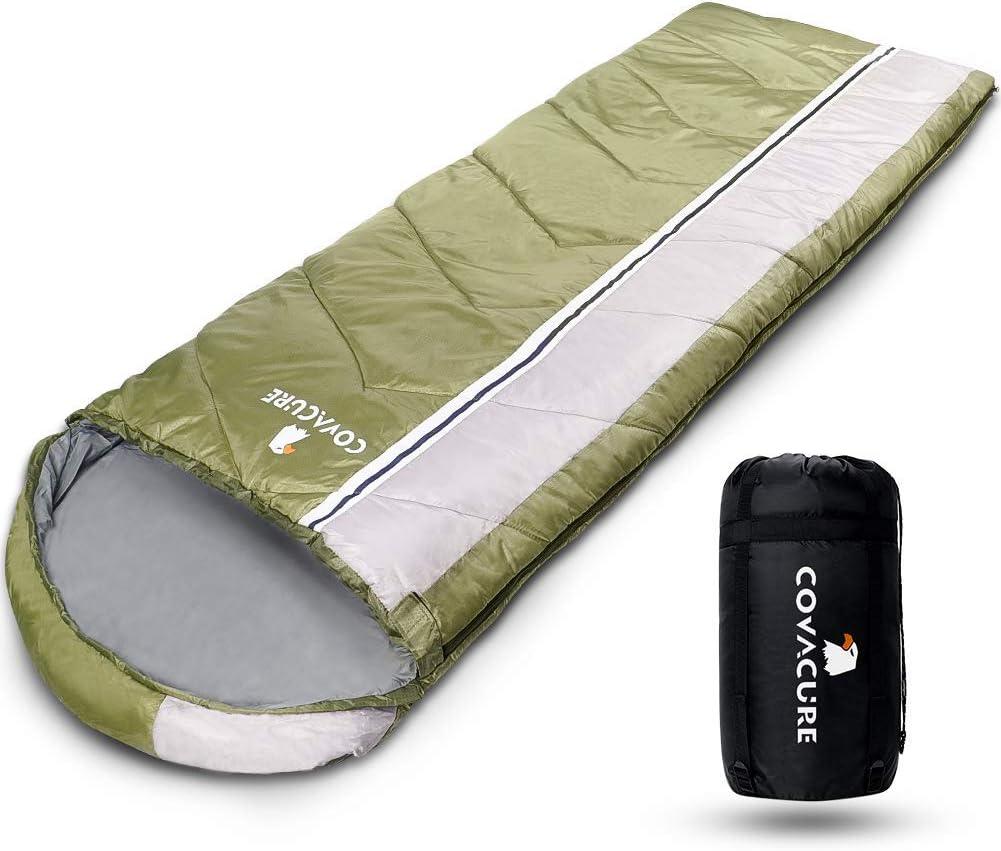 COVACURE c/álido para interior y exterior 210 x 80 cm resistente al agua Saco de dormir ligero y compacto para adultos y ni/ños