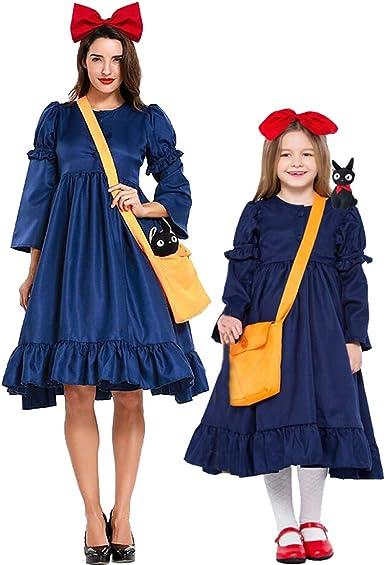 Hivia Bruja Kiki Disfraz Conjunto Madre e Hija Vestido Desmontable ...
