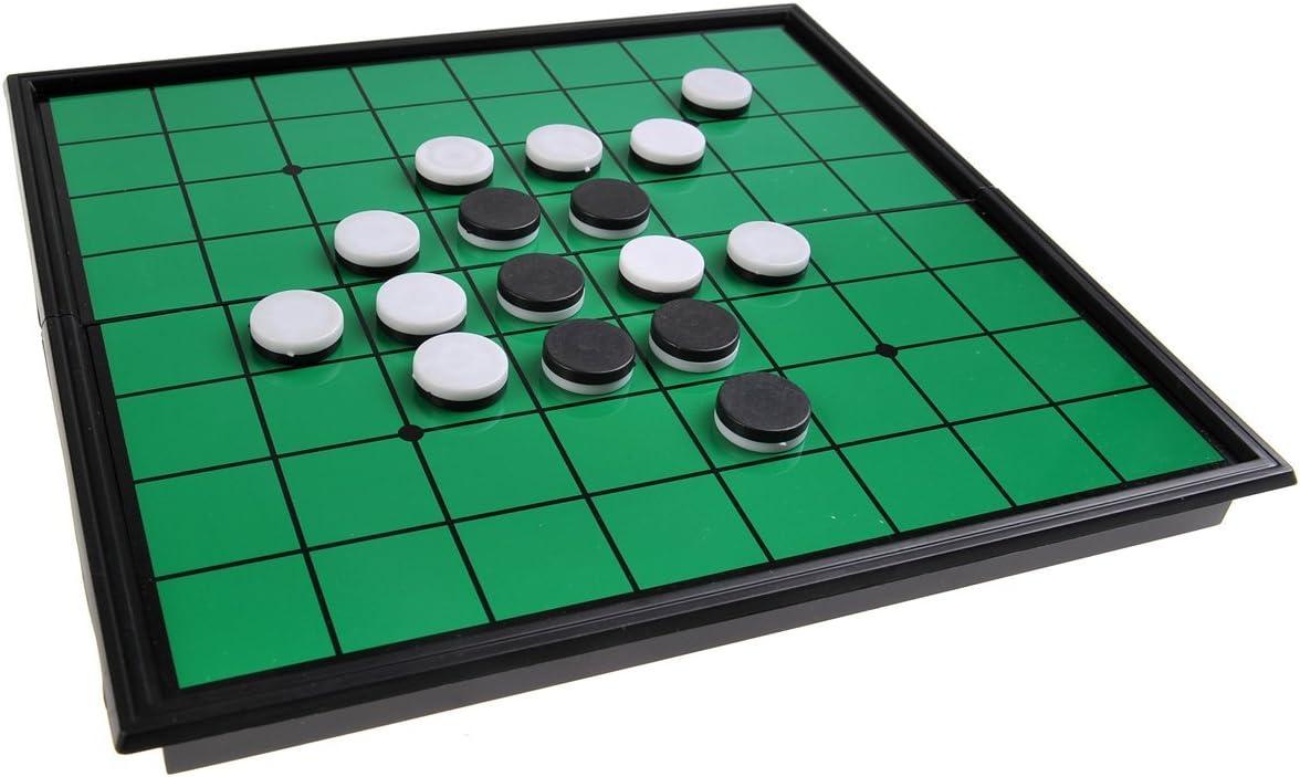 Quantum Abacus Juego de Mesa magnético (tamaño Compacto de Viaje): Reversible / Oshello - Piezas magnéticas, Tablero Plegable, 20x20x2cm, Mod. SC54500 (DE): Amazon.es: Juguetes y juegos