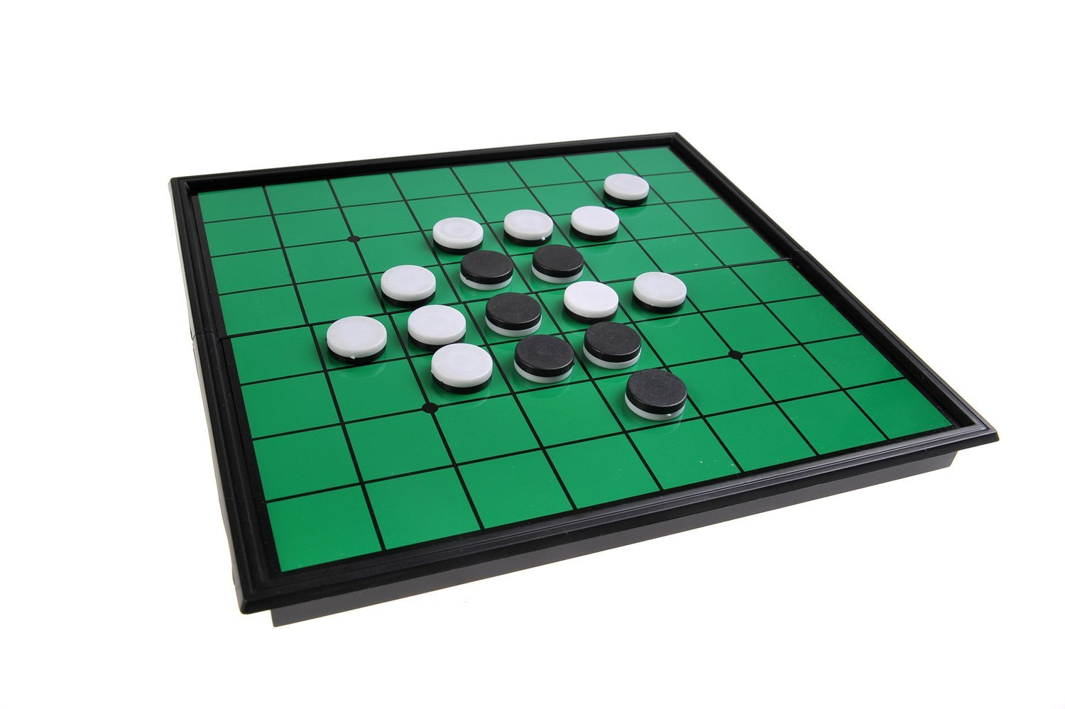 Quantum Abacus Magnetic Board Game (Travel Size): Oshello - Magnetic Game Pieces, Foldable Board 7.87 x 7.87 x 0.79 inches, Mod. SC54500 (DE) The Khan Outdoor & Lifestyle Company