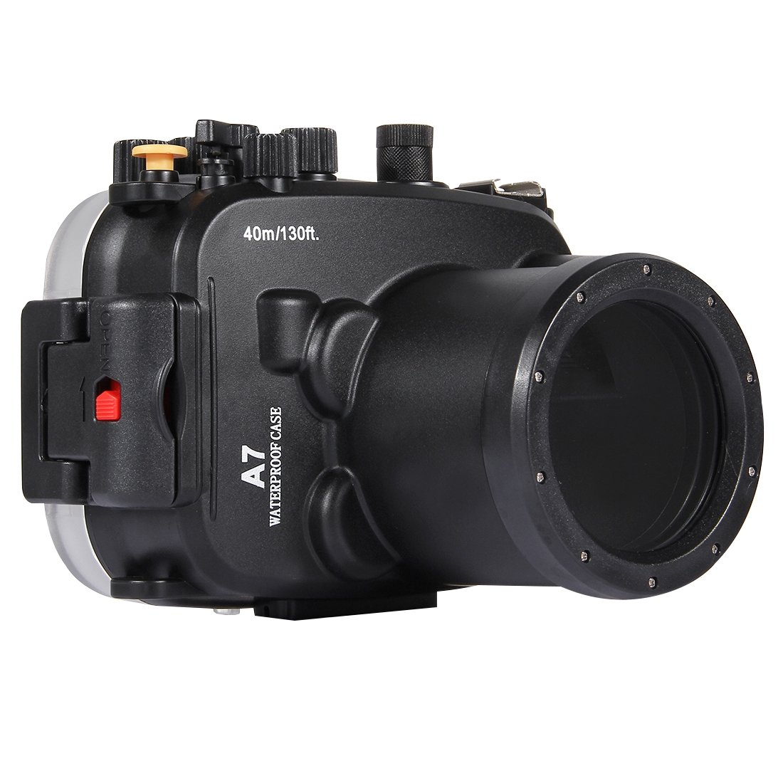 PULUZ Professinal Underwater Camera Housing Waterproof Diving Case for Sony, Water Resistance Depth: 40m/130ft for Sony A7/A7S/A7R