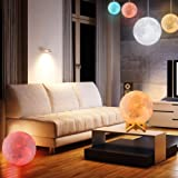 Moon Lamp, LOGROTATE Moon Light Lamps with Time