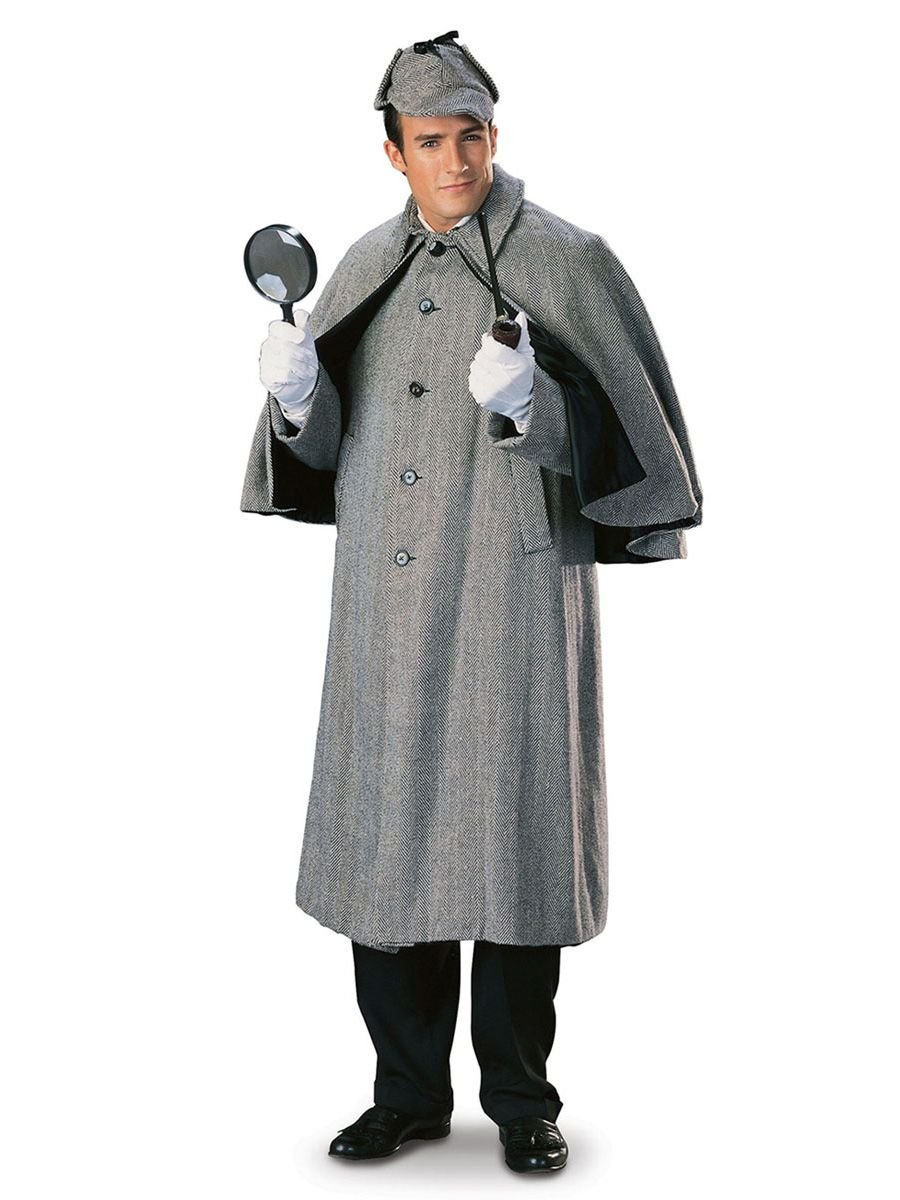 Regency Sherlock Holmes Capecoat Mens Costume,White,Medium by Rubie's