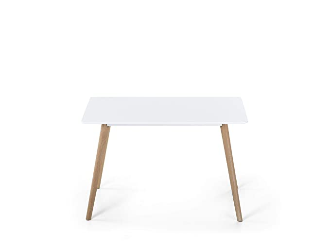 Fly - Mesa de Comedor (120 x 80 cm), Color Blanco: Beliani: Amazon ...