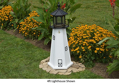 Amish-Made Cape Cod, MA Replica Lighthouse, 48'' Tall by Backyard Crafts