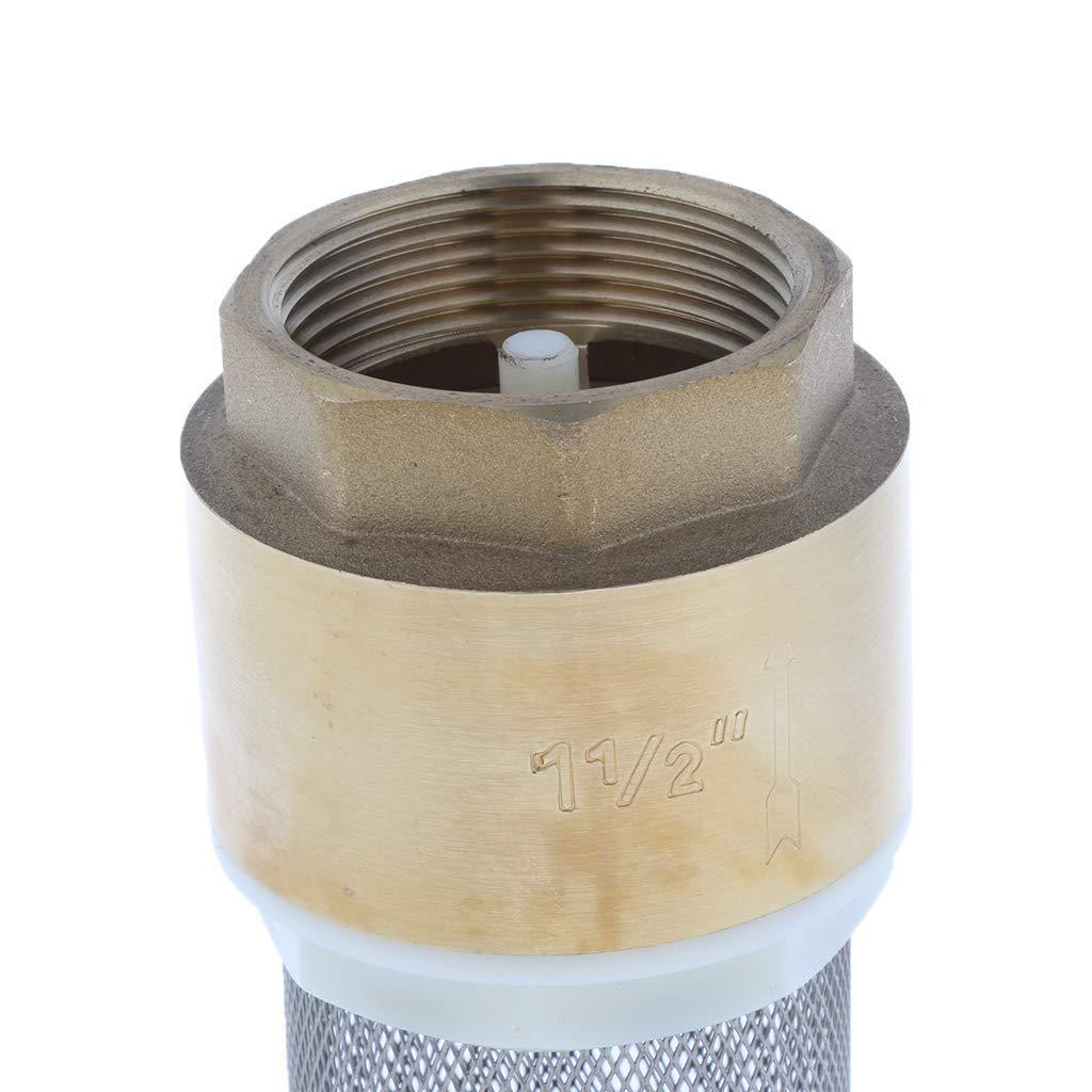 1//2 Zoll DN40 R/ückschlagventil Backbayia Fu/ßventil aus Messing Zubeh/ör f/ür Pumpe Aufs/ätze 1