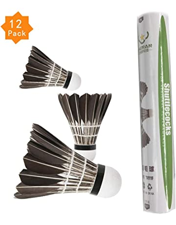 456ea9b99bf ZHENAN 12-Pack Advanced Goose Feather Badminton Shuttlecocks with Great  Stability and Durability