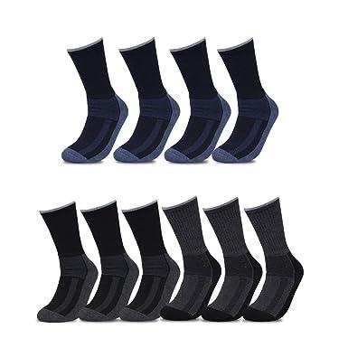 Pesail 10, 12, 20 pares HOMBRE Invierno Calcetines Calcetines Calcetines de deporte de calcetines térmicos de trabajo en colores oscuros multicolor 43-46: ...
