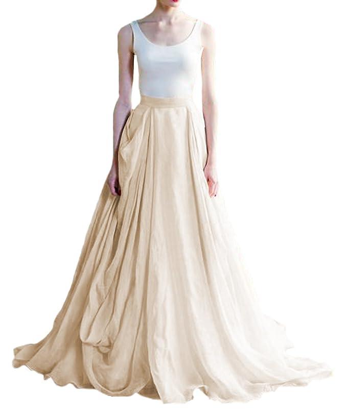 O.D.W Frauen Lange Vintage Hochzeitskleider Boho Rustikale ...