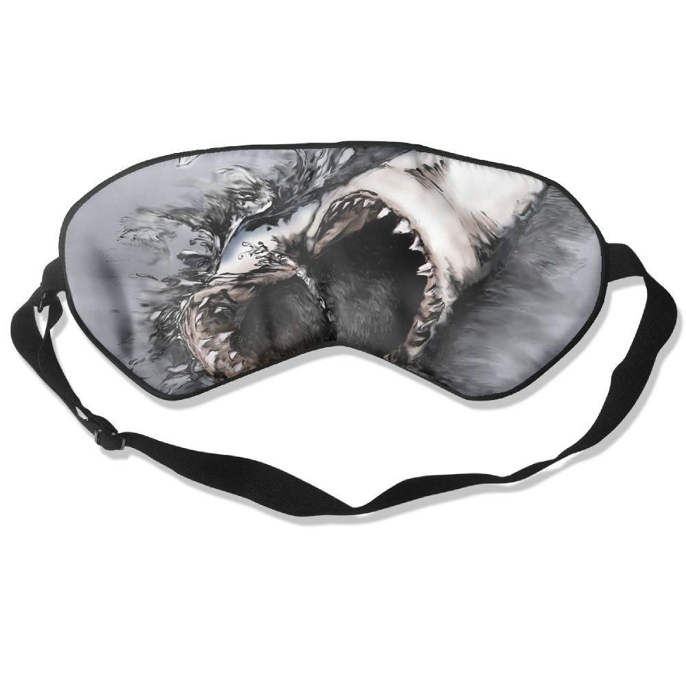 Yoga Sleep Mask Shark Main Eye Cover Blackout Eye Masks,Soothing Puffy Eyes,Dark Circles,Stress,Breathable Blindfold Silk Eye Bags