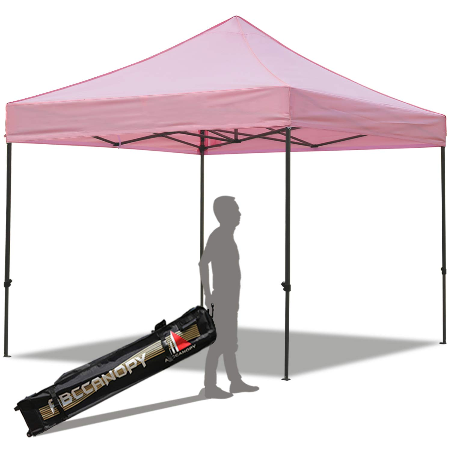 ABCCANOPY Pop up Canopy Tent Commercial Instant Shelter with Wheeled Carry Bag, 10x10 FT Pink