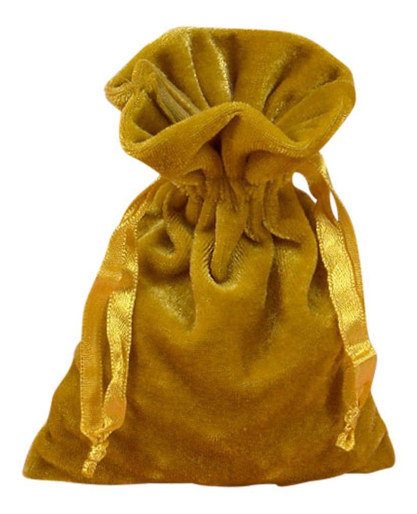 Amazon.com: Oro Tarot bolsa de terciopelo 6 x 9 de papel por ...
