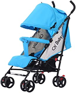 Shisky Strollers & Buggies Baby Carriage,Light Folding can be Flat-Lying Baby Stroller Children's Hand-Push Umbrella car 69 * 47 * 106cm