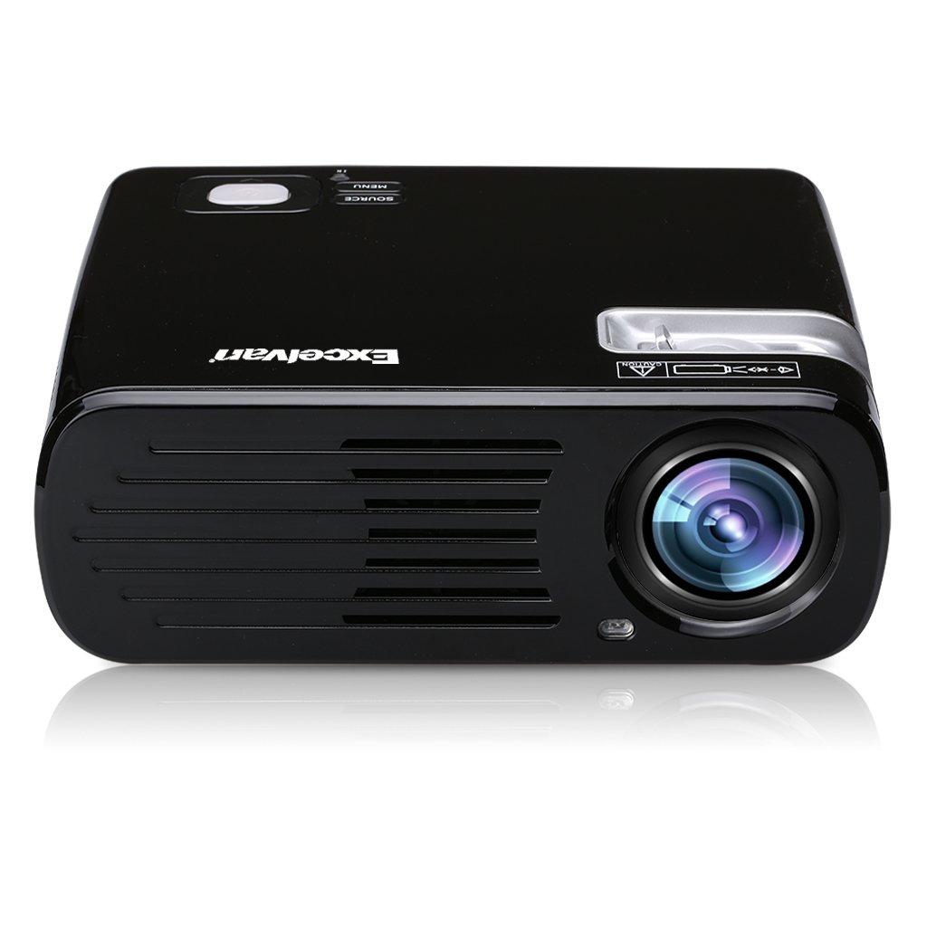 Excelvan EHD11 - Proyector portátil LED Home Cinema (2600 lúmenes, resolución 800*480, HDMI/USB/VGA/AV/ATV/SD), con altavoces estéreos, Negro