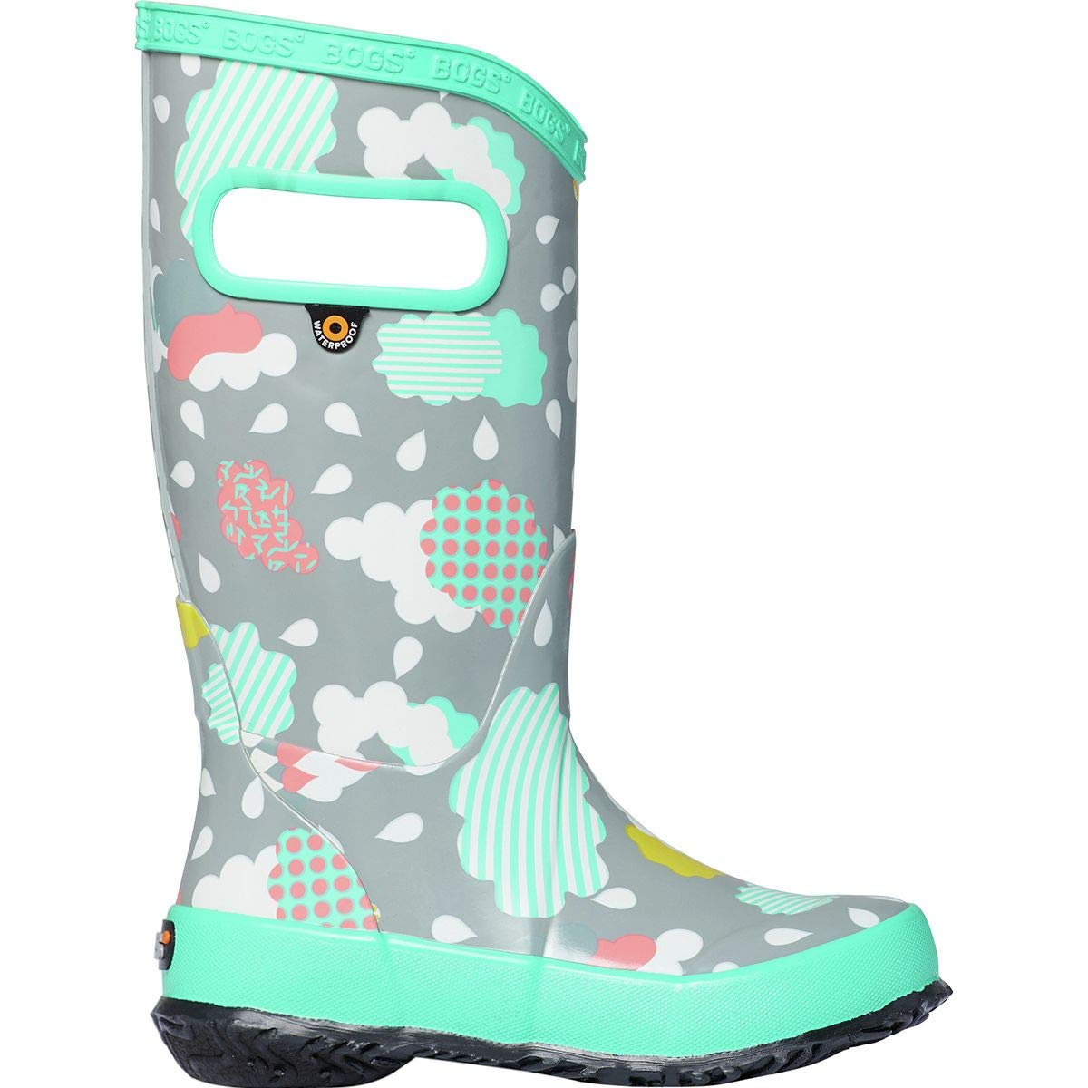 1278469aee Amazon.com   Bogs Clouds Rain Boot - Girls'   Boots