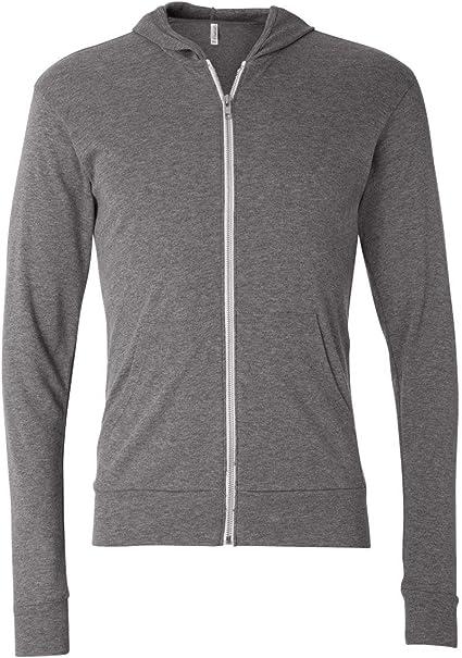 Style # 3939 - Original Label XS - BELLA Canvas Unisex Triblend Full-Zip Lightweight Hoodie Grey Triblend