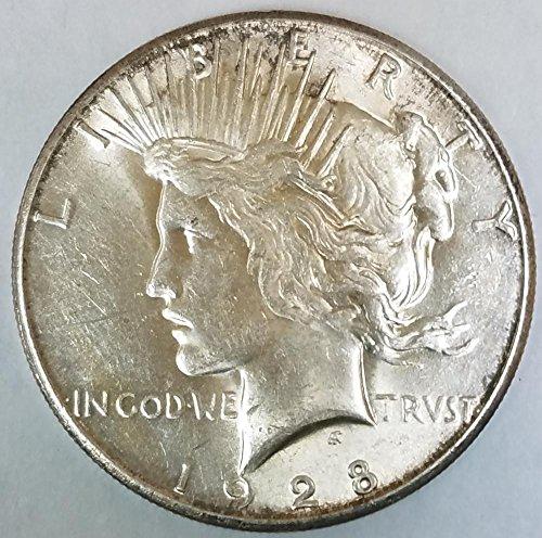 1928 S Peace Dollar Unc.