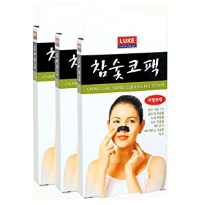 Charcoal Nose Pore Cleansing 30 Strips Blackhead Remover by Luke