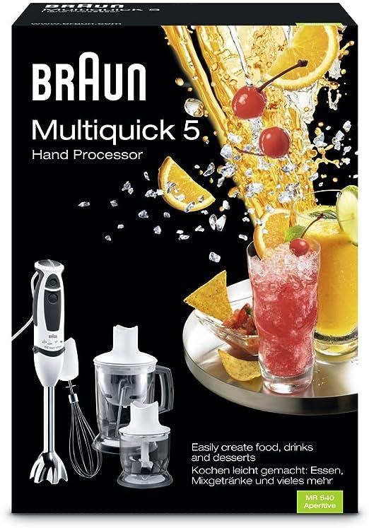 Braun Batidora Multiquick 5 Mr 540 Aperitive Amazon Es Hogar