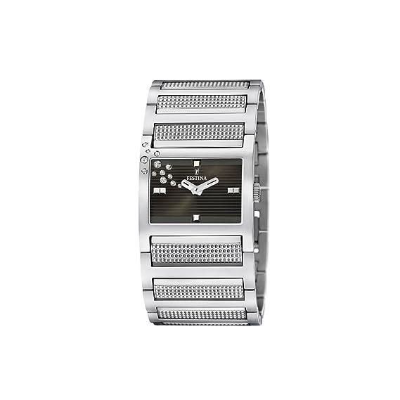 FESTINA F16360-3 - Reloj de mujer de cuarzo, correa de acero inoxidable color