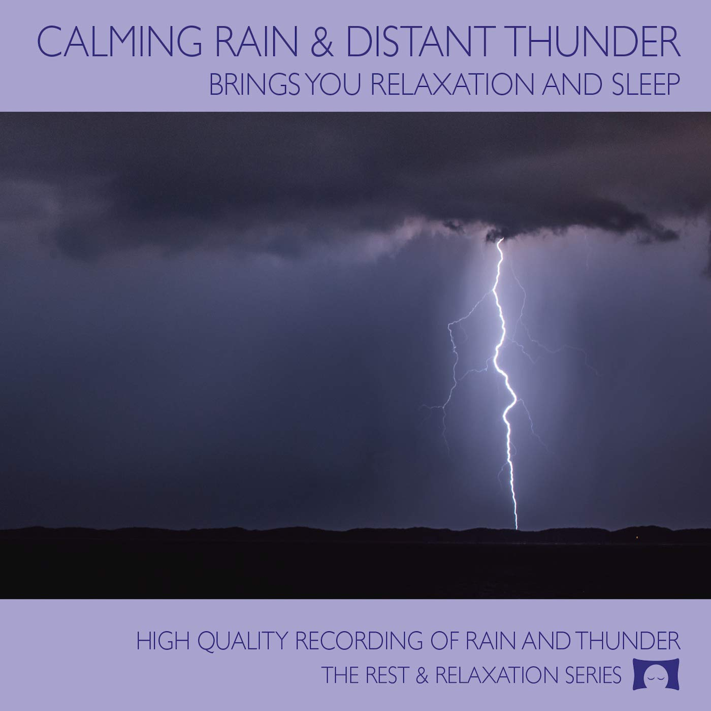 Calming Rain and Distant Thunder - Thunderstorm Nature Sounds Recording - for Meditation, Relaxation and Sleep - Nature's Perfect White Noise -<span class=