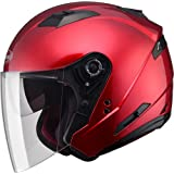 Gmax OF77 unisex-adult open-face-helmet-style Motorcycle Street Helmet Solid (Candy Red,XXX-Large),1 Pack