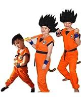 SSJ Dragonball Goku Style Costume 5-piece set [Satoru Mark Kids] Japanese Amime