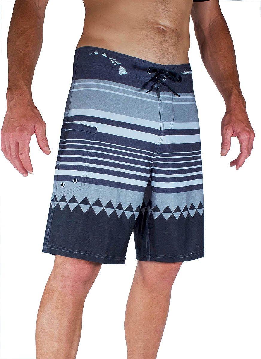 Honolua Grey Boardshort 4Way Dobby Stretch
