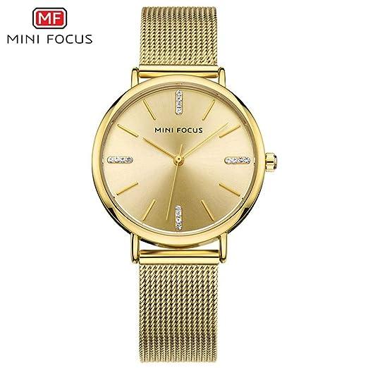 SJXIN Reloj Elegante Mini Focus/Fashion dial Ladies Reloj de Cuarzo 3ATM Relojes de Moda
