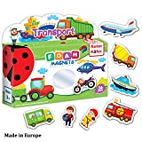 magnet game for fridge - Refrigerator Magnets for kids VEHICLES & PROFESSIONS (36 pcs) - Fridge Magnets for Toddlers activity - Educational Kids magnets - Toddler magnets - Baby Vehicle Magnets - Shape Magnets