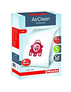 Miele Genuine Vacuum Cleaner AirClean Dust Bags Type FJM Pack of 8