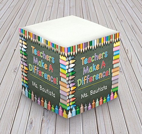 Personalized Self Stick Memo Cube - Teachers make a Difference - 2807_32