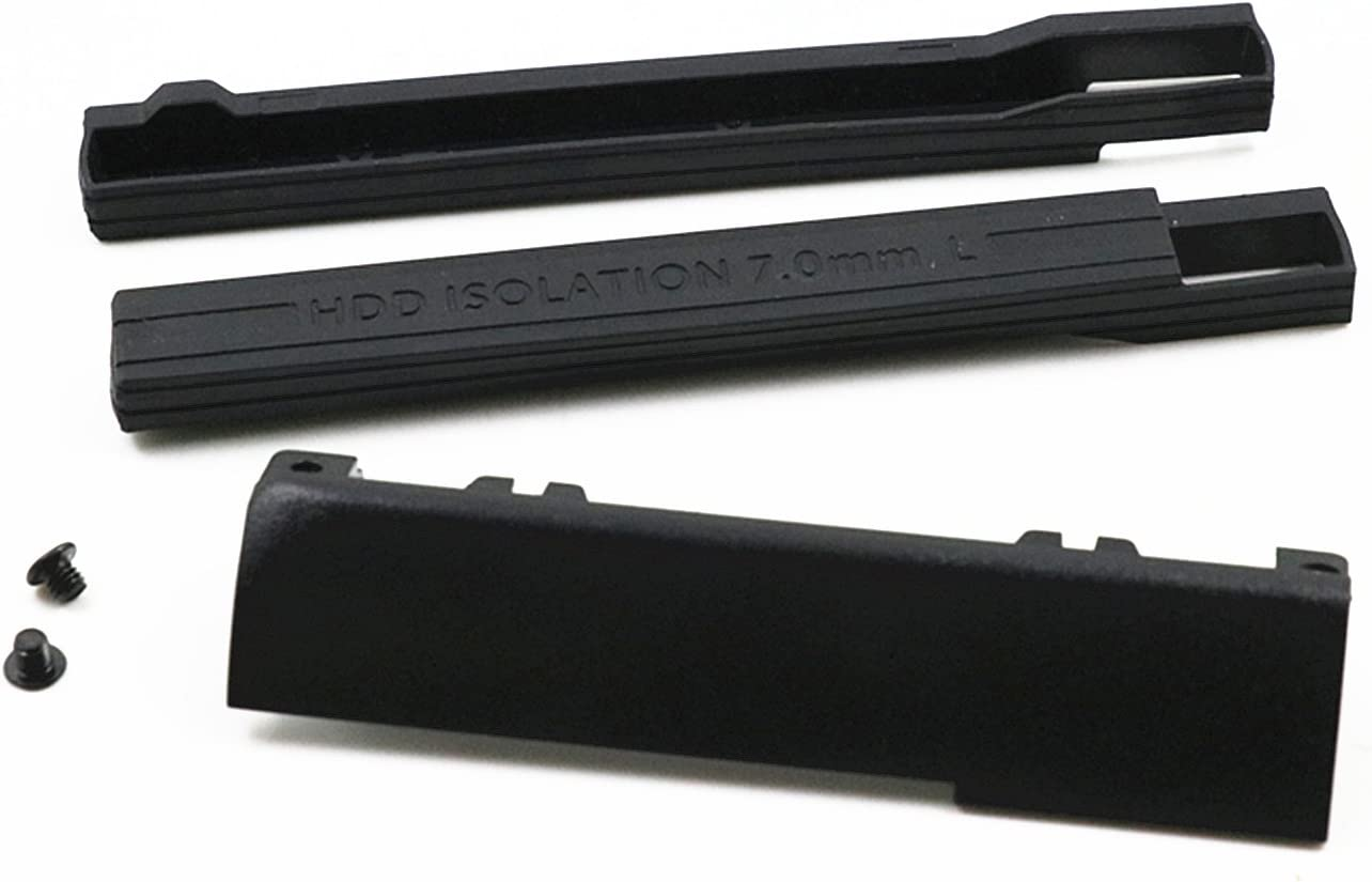 BestParts Hard Drive Caddy Cover + 7mm Isolation Rubber Rails for Dell Latitude E6440