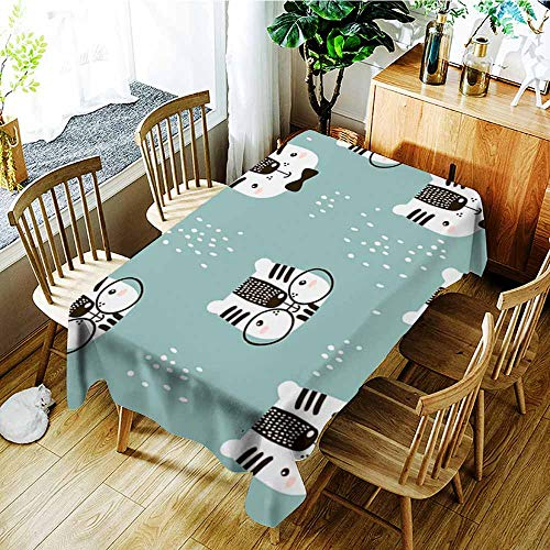 Anti-Fading Tablecloths,Seamless childish pattern with cute tiger face Creative nursery background Perfect for kids design fabric wrapping wallpaper textile apparel,Dinner Picnic Table Cloth Home Dec ()