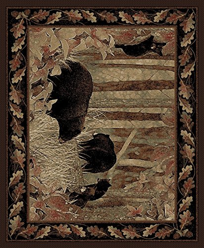 Rug Empire Rustic Lodge, Bear Cubs Area Rug, 7'10