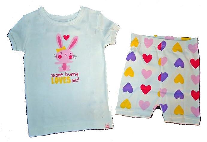 67cce18b9d92 Amazon.com  Baby Gap Girls Some Bunny Loves Me Heart Shorts Pajamas ...