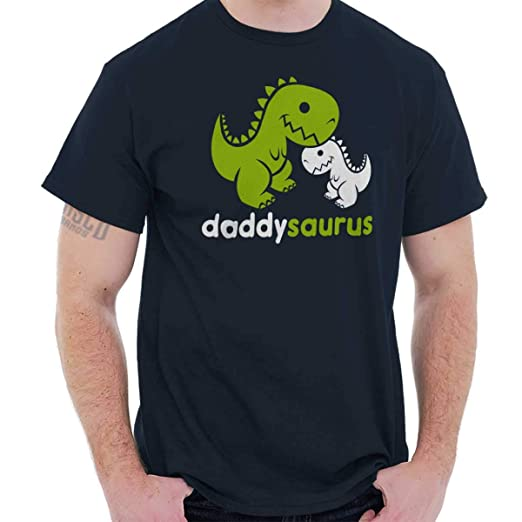 525ace313 Brisco Brands Daddysaurus Dinosaur Dad Child Fathers Day T Shirt Tee Navy