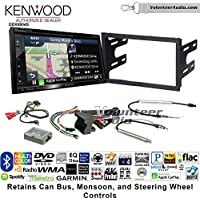 Volunteer Audio Kenwood Excelon DNX694S Double Din Radio Install Kit with GPS Navigation System Android Auto Apple CarPlay Fits 2002 Volkswagen Golf, 2002 Jetta, 2002 Passat with Amplified Systems