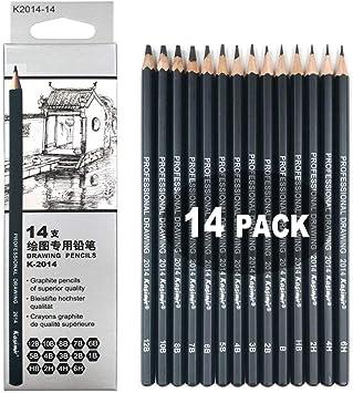 14 Pcs Lapices De Dibujo Profesional Kit De Dibujo Lápices De Dibujo Juego Para Dibujar Y