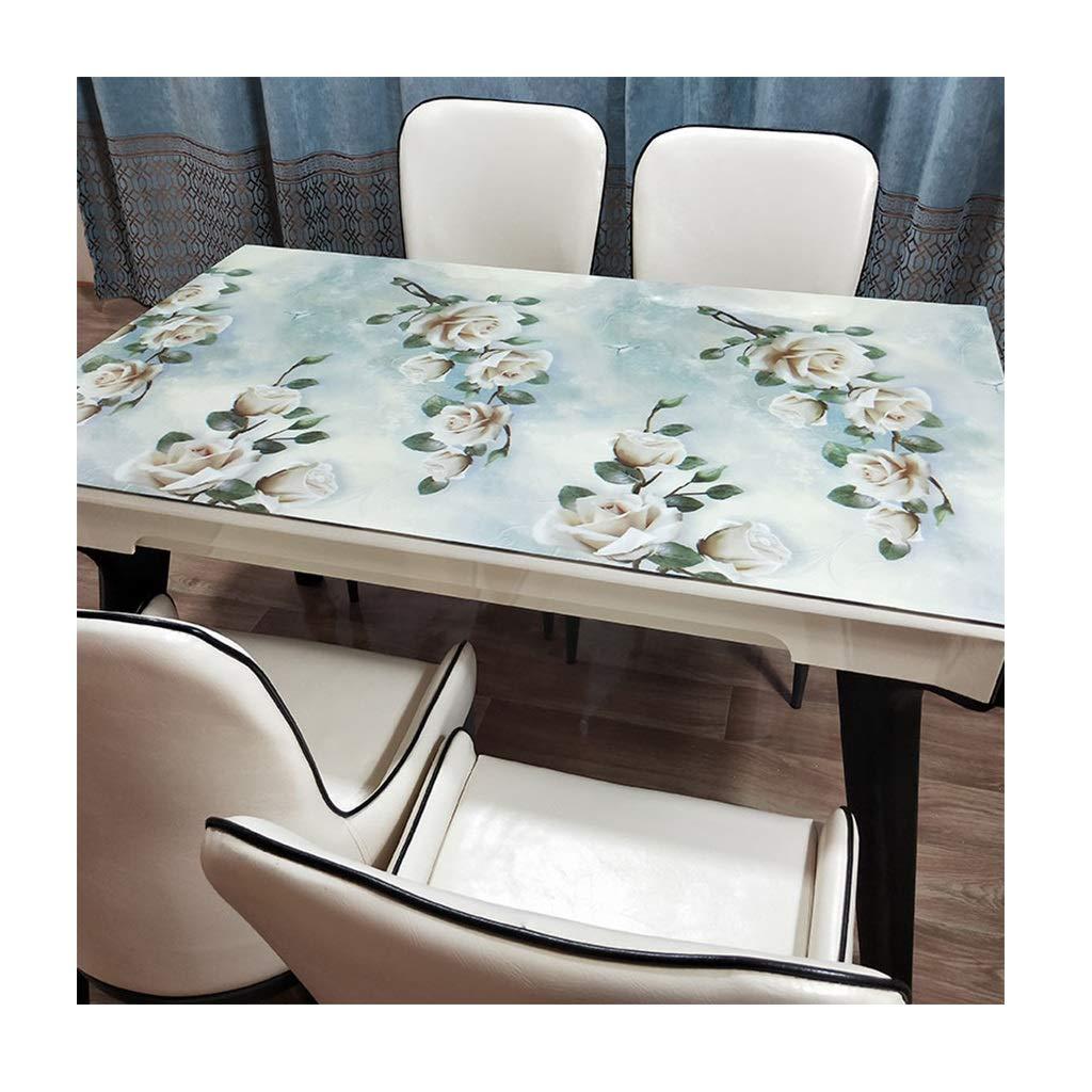 LULU LLH PVC-Tischdecke, ölBesteändige Einweg-Wegwerfwaschbare Anti-heiße Tischdecke undurchsichtige weiche Glas-Couchtischmatte freie Waschtischdecke ZHUOB (Farbe   C, größe   85  140CM) B07NWGF9D6 Tischdecken Bestellung willko