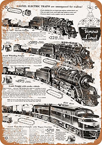 Wall-Color 7 x 10 Metal Sign - 1952 Lionel Electric Trains - Vintage Look