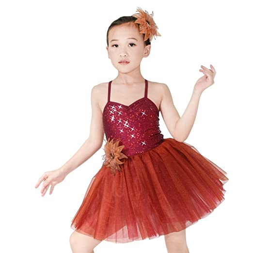 2ce57bdaf8b6 Amazon.com  MiDee Little Girl s Dance Costume Ballet Tutu Dress ...