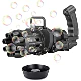 Loisuzn Gatling Bubble Machine 2021 Cool Toys & Gift, Gatling Bubble Gun 8-Hole Bubble Blower Automatic Bubble Maker Toy for