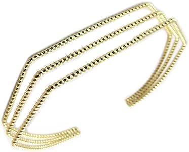 Chapado en oro pulsera de oro 'Cleopatra'.
