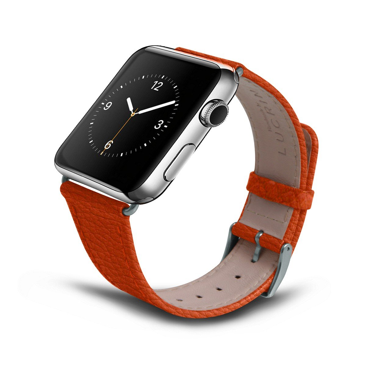 Lucrin - Apple Watch Band 42 mm - Classic - Orange - Granulated Leather by Lucrin (Image #5)