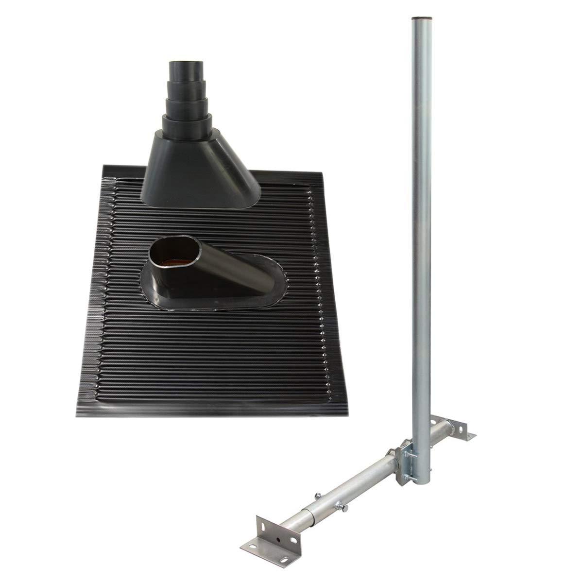 PremiumX Basic X120-48 SAT TV Dachsparrenhalterung 120cm Kabeldurchf/ührung Mast f/ür Satellitensch/üssel/´Satelliten-Antenne Frankfurter Pfanne T/ülle schwarz inkl Schrauben