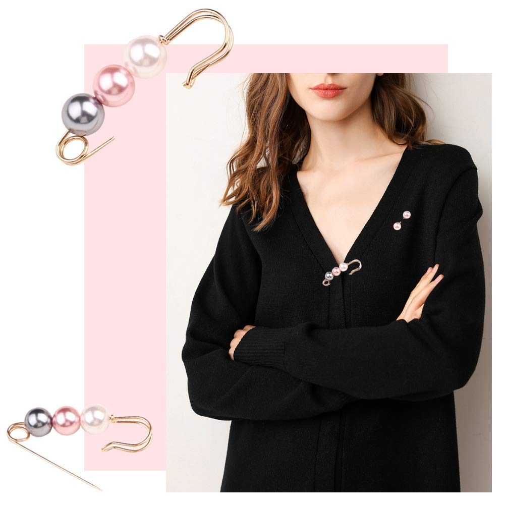 Joyci One Set Brooch Simple Korean Style Coat Pins Cardigan Collar Button DIY Brooch Pin