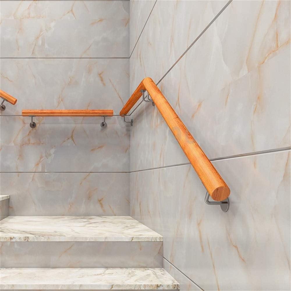 Barandilla Antideslizante de Escalera 50-400cm Juego Completo de pasamanos de Escalera de Madera de Pino hogar Kindergarten Old Man Interior y Exterior Villa Loft Hospital Corredor Barandilla de m